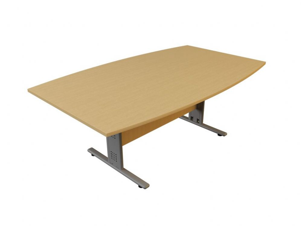 Boat Shaped Meeting/Boardroom Table|Wire Managed I Frame|Choice of Table Finish|Leg Frame|Width